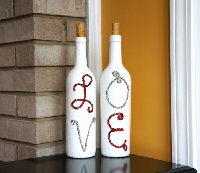 DIY Ideas Bottles White Swipe Embassy Deco Ideas