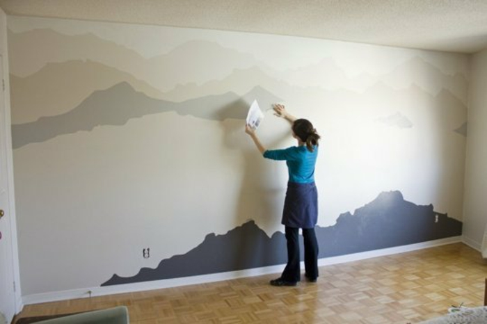 wall decoration ideas mountains diy wall decoration