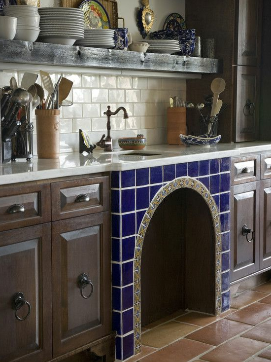 modern kitchen set kitchen sink stylish country style tiles blue