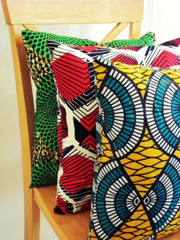 africa decoration pillow with pattern colorful