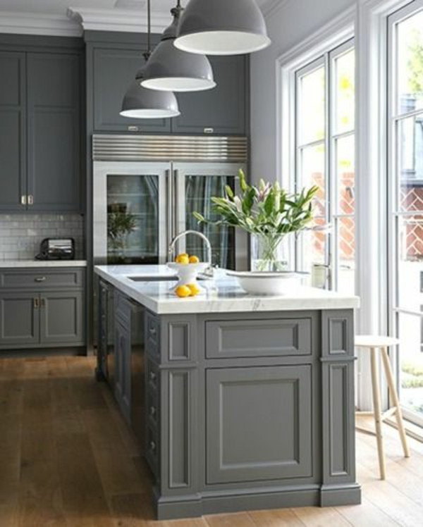 kitchen furniture closet gray
