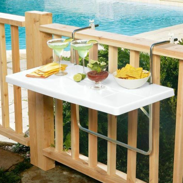 balcony table functional white design