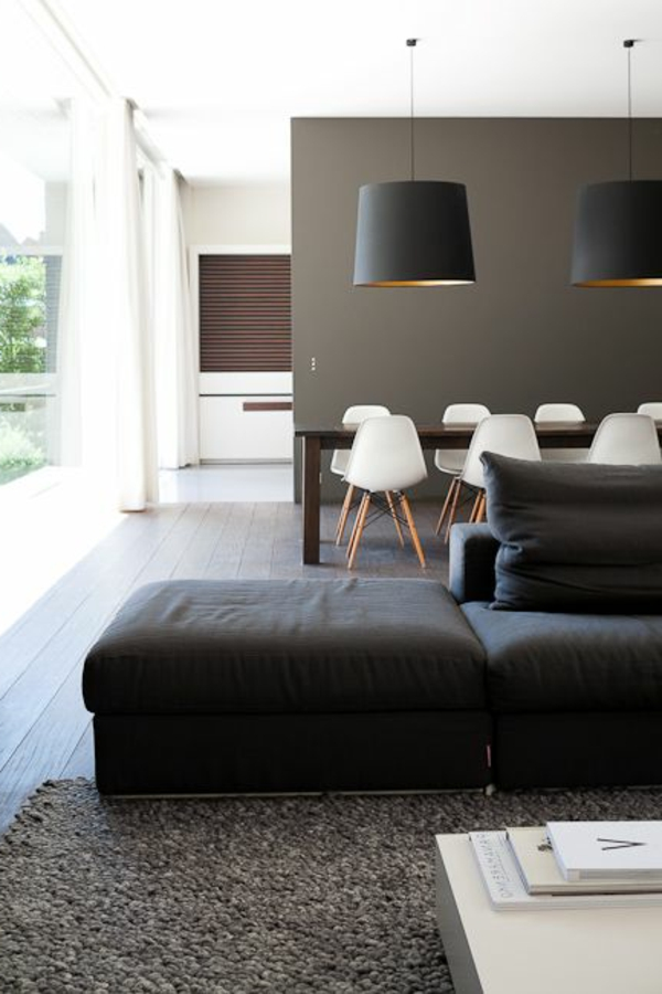 living room sofa design black