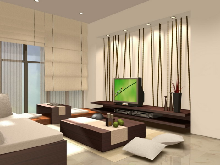 Japanese decorative living room in the Japanese style