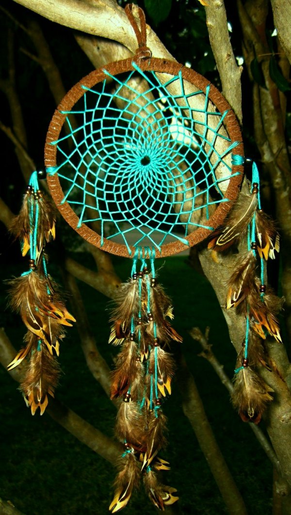 dream catcher make your own turquoise threads