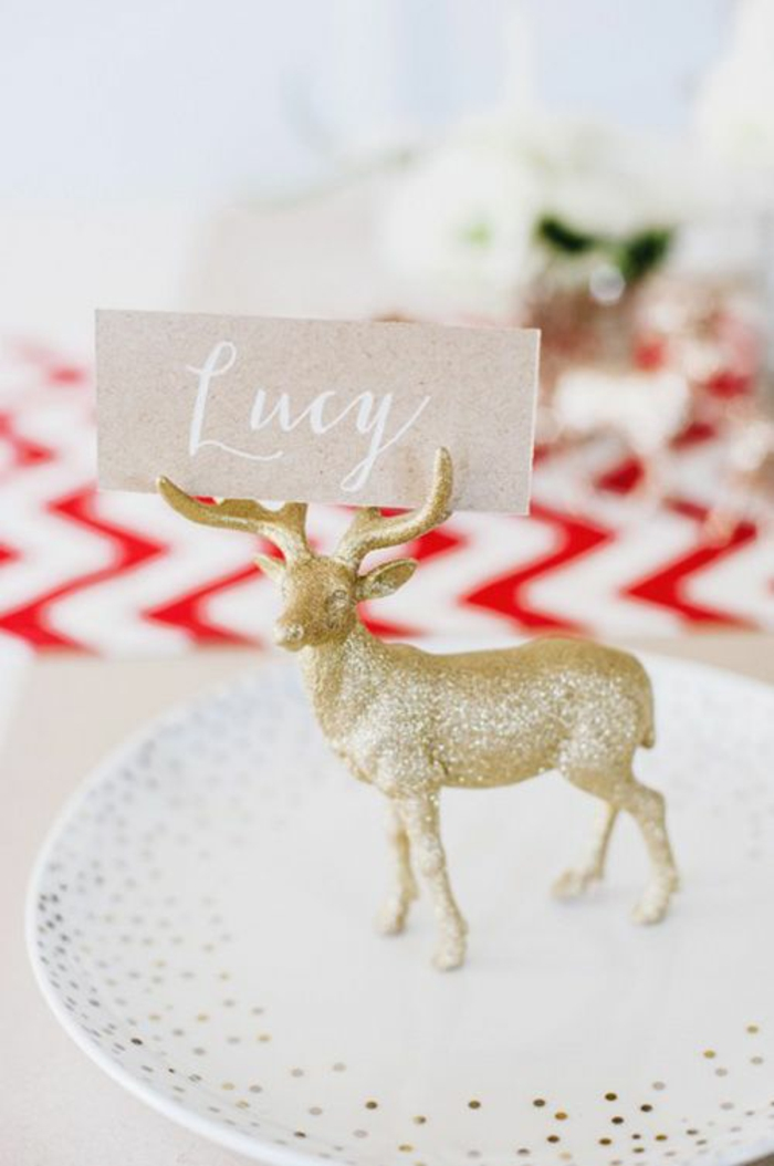 make christmas table cards make your own table decoration