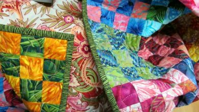 Photo of The patchwork fabric will spice up your interior design