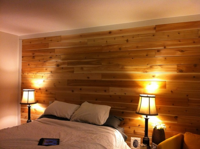 Wooden wall design feature