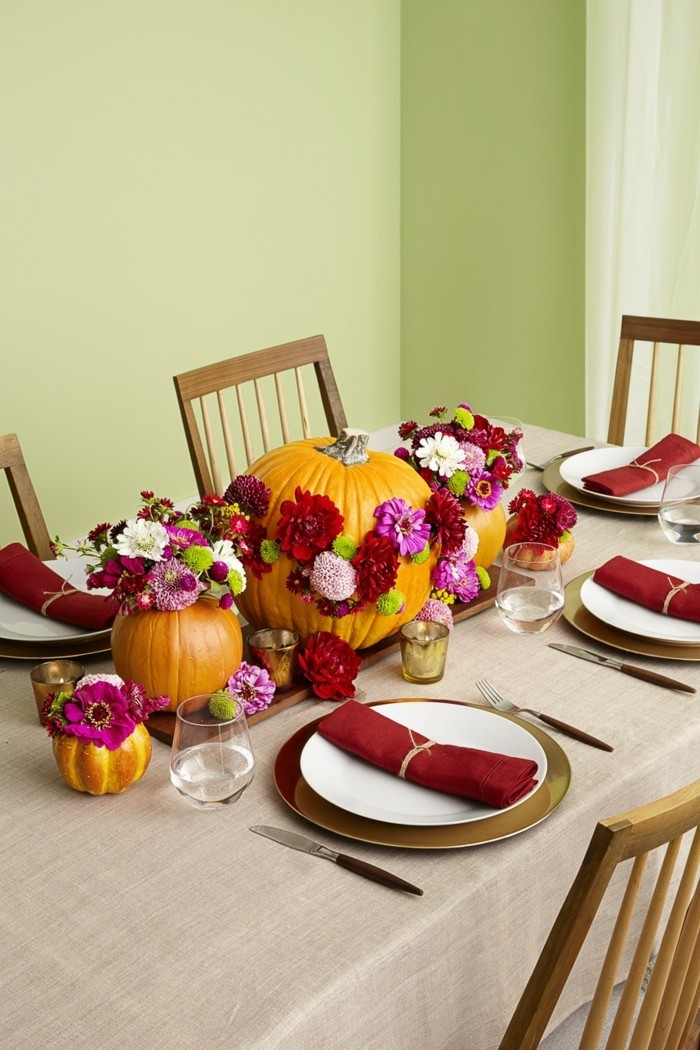 table decoration unusual fresh deco ideas with pumpkins and flowers