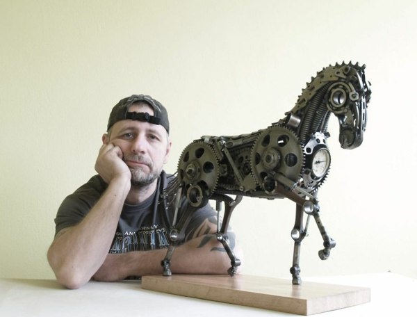 used motorcycle parts designer horse