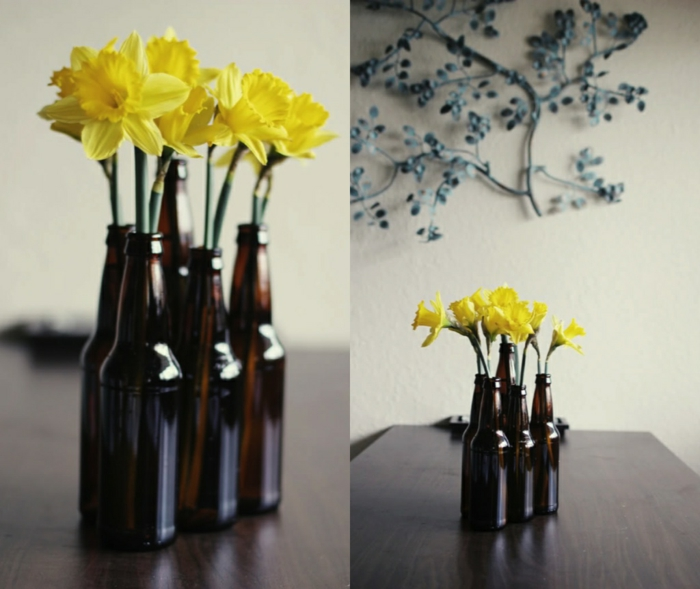 creative home decorating beer bottles decorating vases