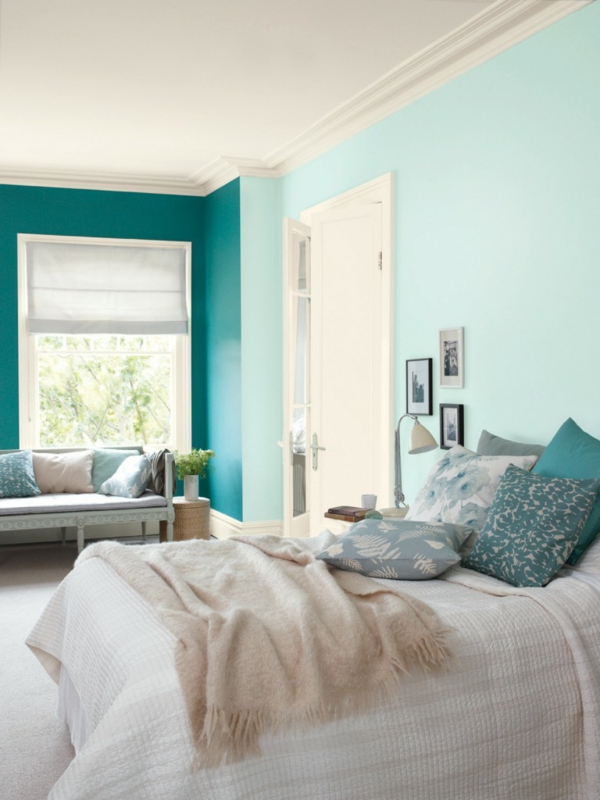 mint green wall paint color ideas for the bedroom