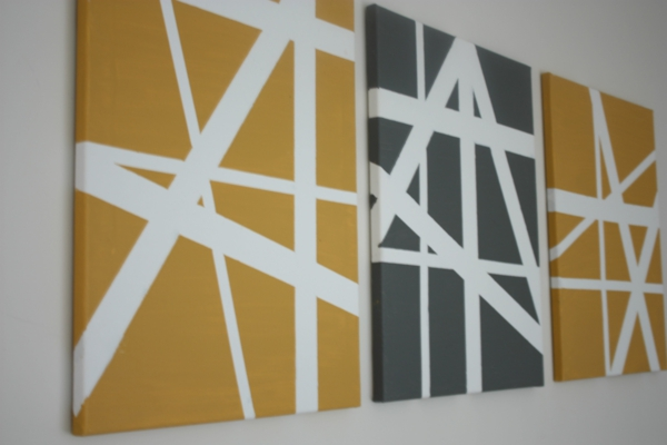 diy modern canvas pictures lines