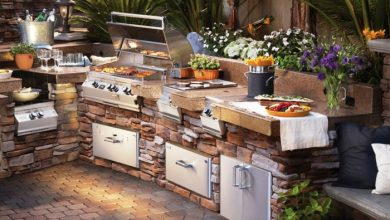 Photo of Build your own outdoor kitchen – 23 examples of home-made garden kitchens!