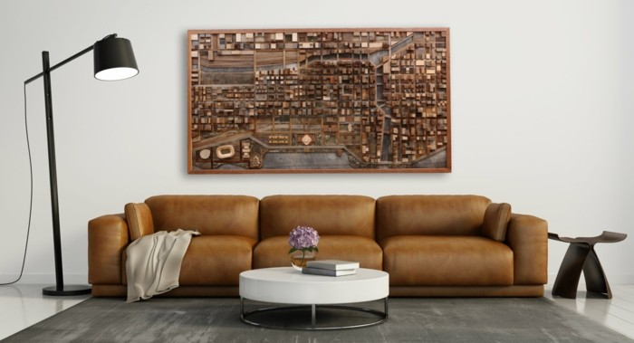 wall decoration from wood correspondence
