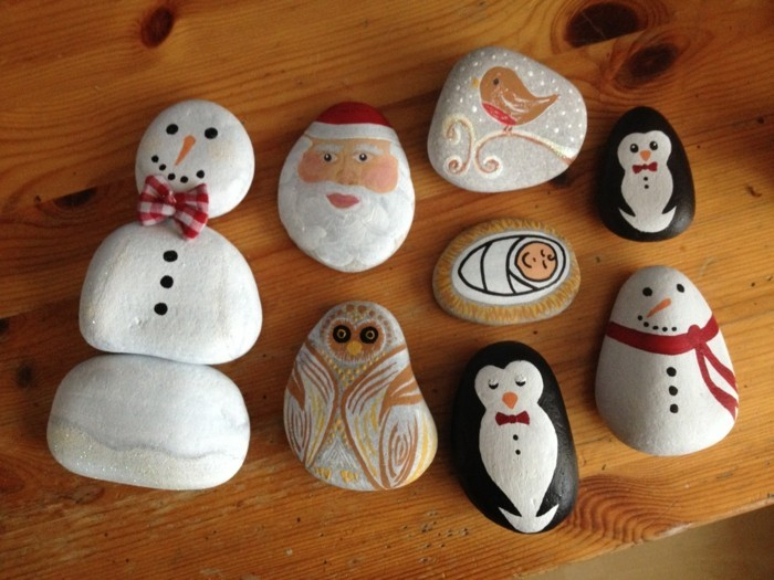 diy ideas for the garden in winter stones painted