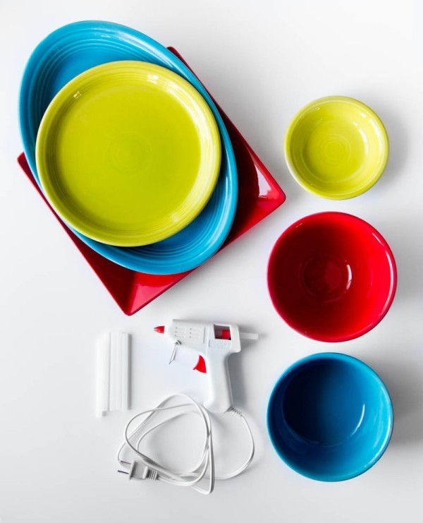 Deposits themselves make colored dishes 2