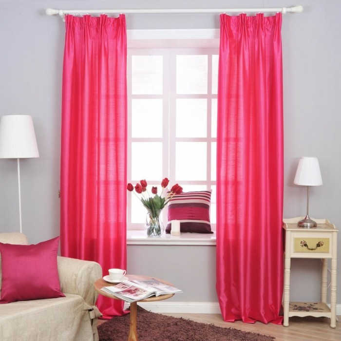 Privacy protection in the bedroom is a must curtains in stark shades