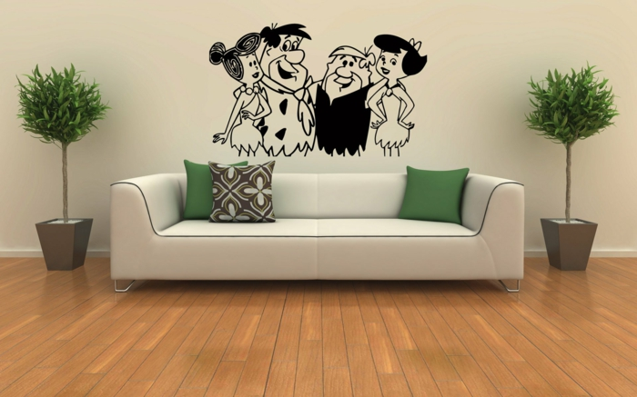 easy-care indoor plants images living room sofa wall stickers