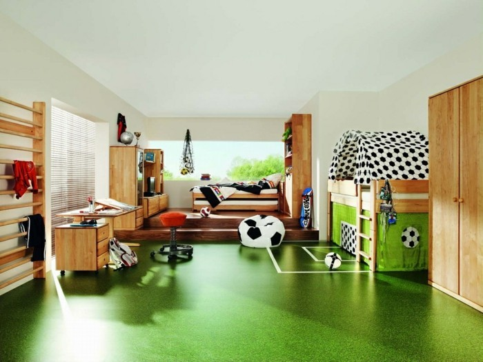 Nursery Interior Football Design Interior Ideas Floor White Line