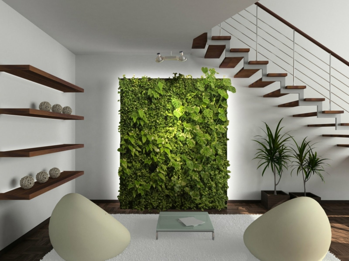 easy-care indoor plants pictures vertical garden green wall decoration ideas