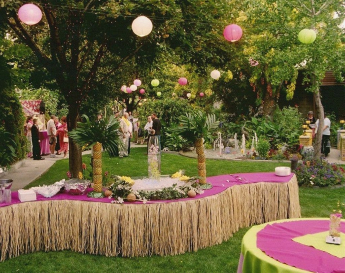 party decoration ideas summer table decoration lighting