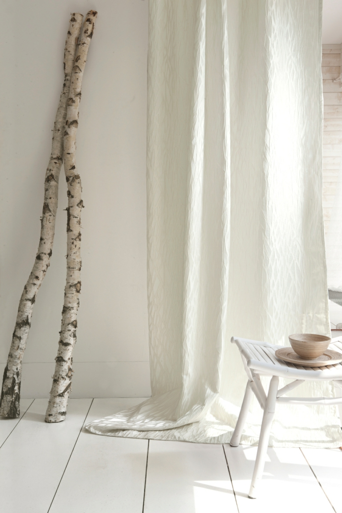 curtains drapery curtains linen cotton viscose white puristic