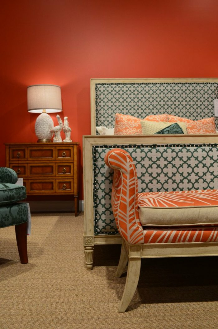 wall colors ideas furnishing examples wood orange white bedroom