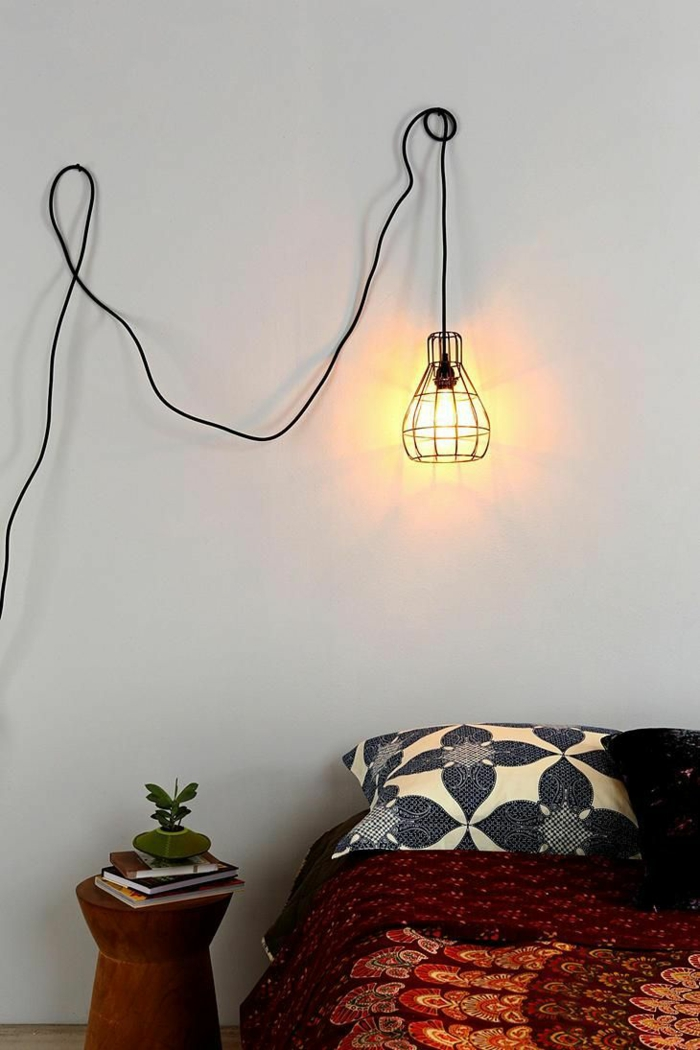 do it yourself deco hanging lamp metal cable