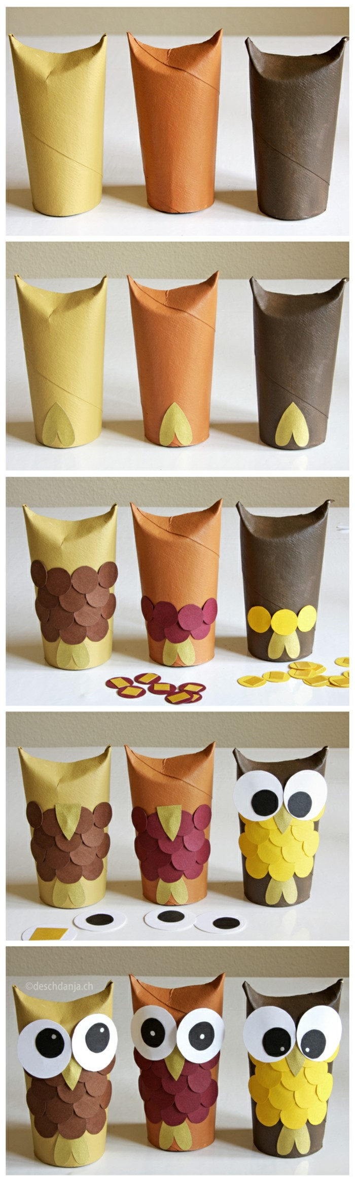 making autumn with children making autumn decoration yourself tinkering with paper rolls