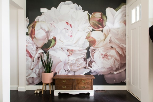 Decoration ideas Wall art floral wallpaper
