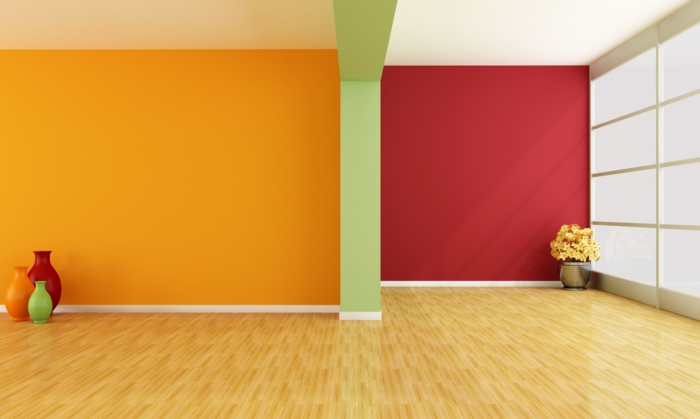 wall colors ideas furnishing examples wood orange desing