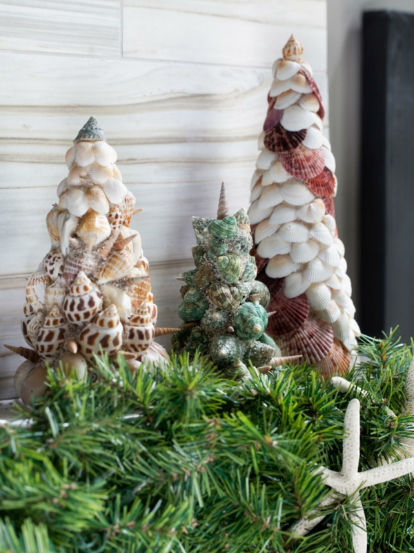 DIY Christmas decoration with shells