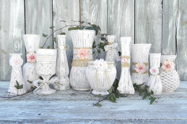 decorate vases shabby chic decor yourself