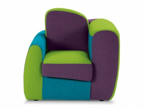 children's room funny armchair colored design asymmetric