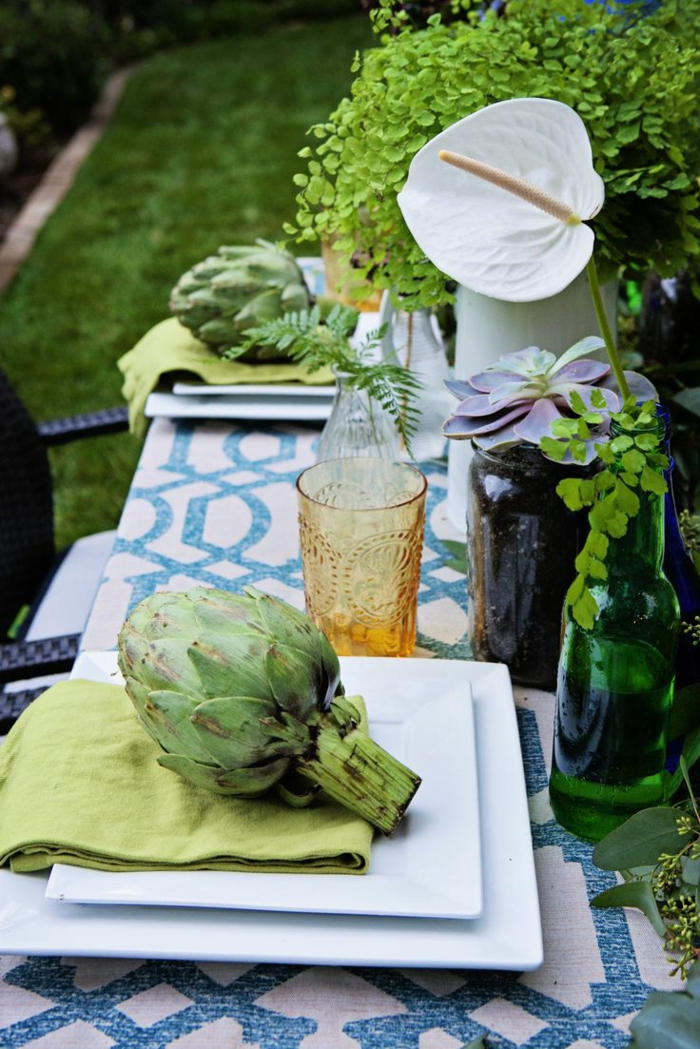 party decoration ideas summer fruits garden table decorate