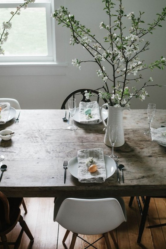 Rustic table decoration Easter