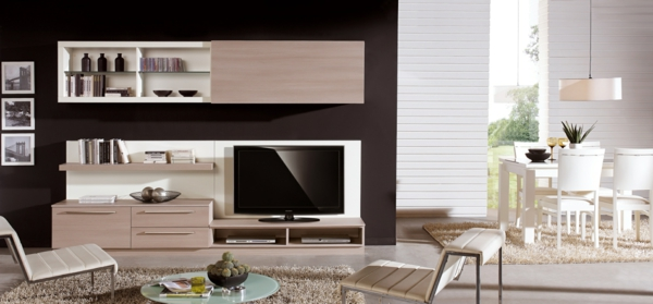 modern residential walls place for the tv