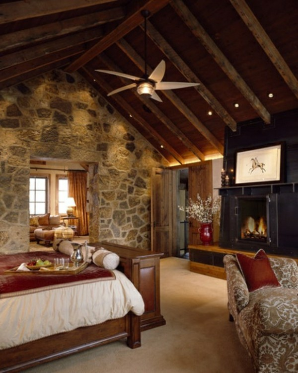 stone walls decoids sloping roof