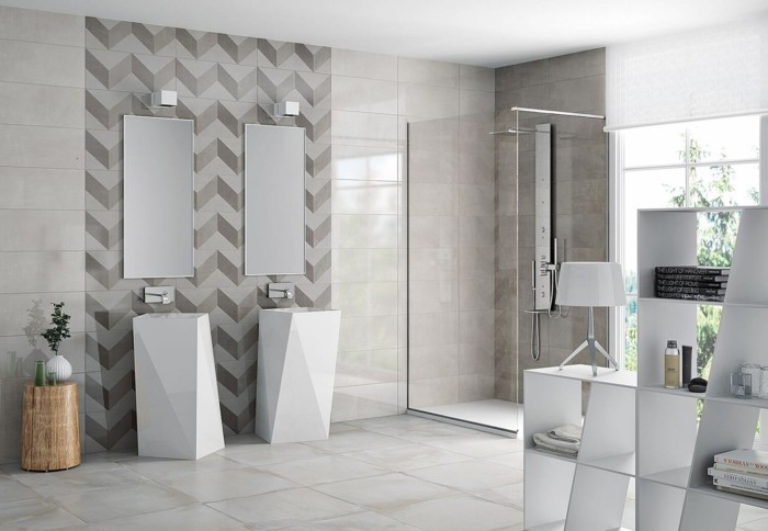 bathroom decorate home decor chavron pattern
