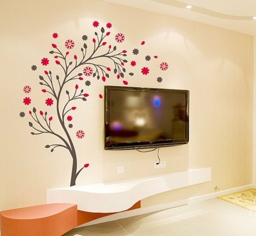 patterned wallpaper accent wall with subtle floral patterns