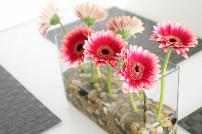 deco flowers vase stones diy ideas