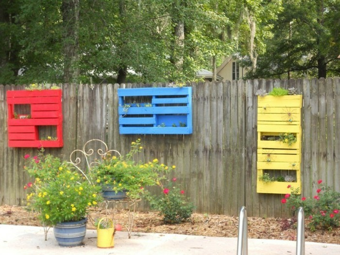 fancy garden decorating yourself make garden fence with pallets decorate
