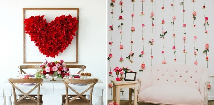 valentine's ideas wall decoration ideas heart roses