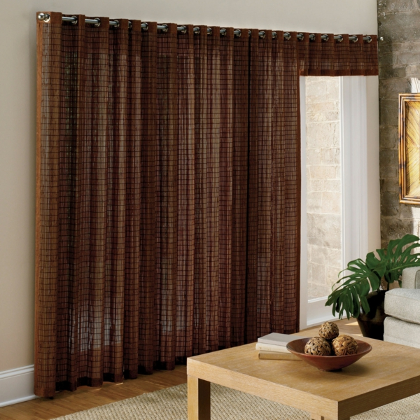 beautiful brown curtains