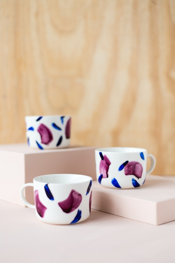 cups painted beautiful set