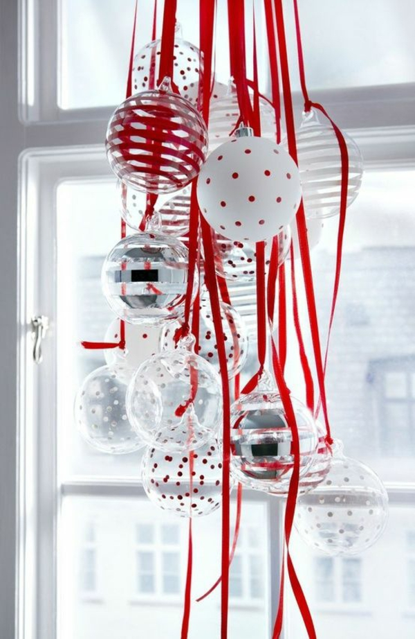 christmas tree decorations tinker glass balls red grind