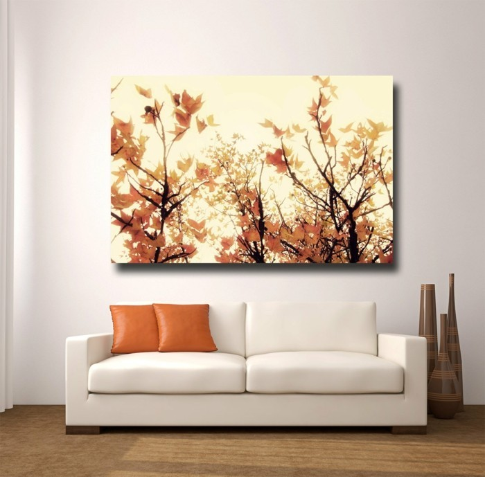 nature pictures as a wall decoration for the living room