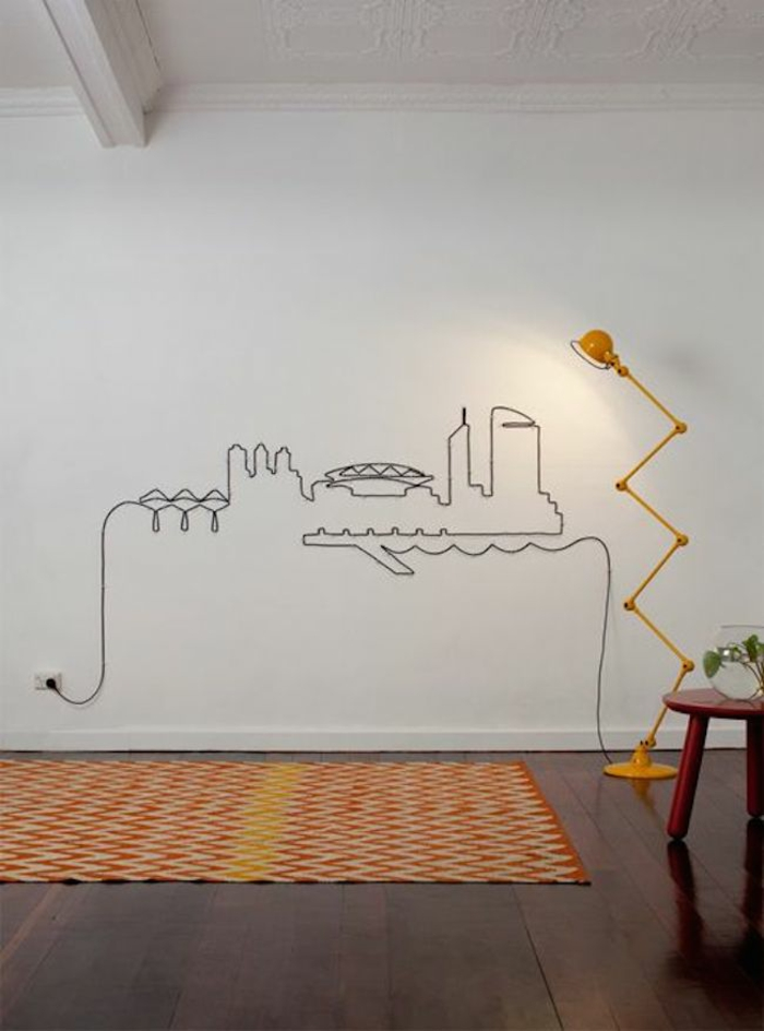 do it yourself decoration cable cityscape minimalistic