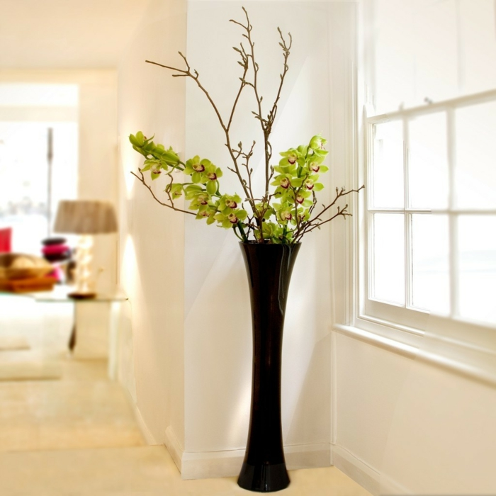 fancy home accessories dark floor vase elegant